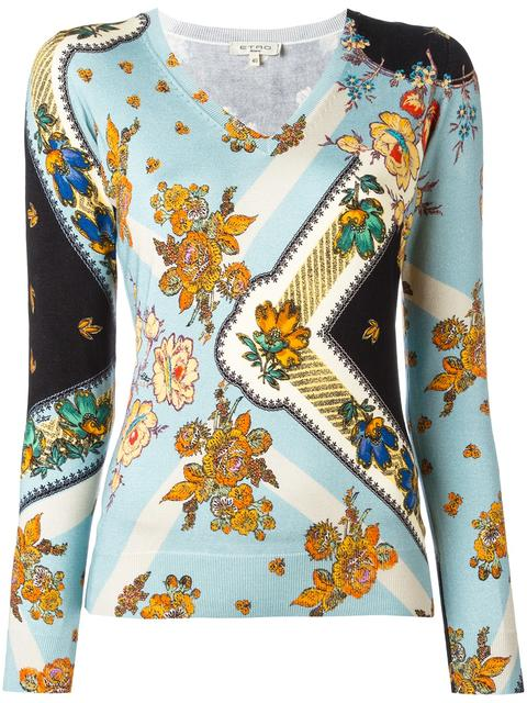 ETRO Floral Print Blouse at Farfetch