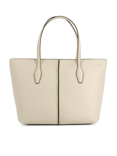 TOD'S Beige Leather Shopping Bag