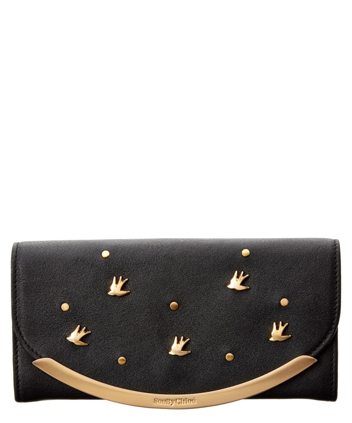 SEE BY CHLOÉ See By Chloe Lizzie Studded Leather Continental Wallet' at Bluefly