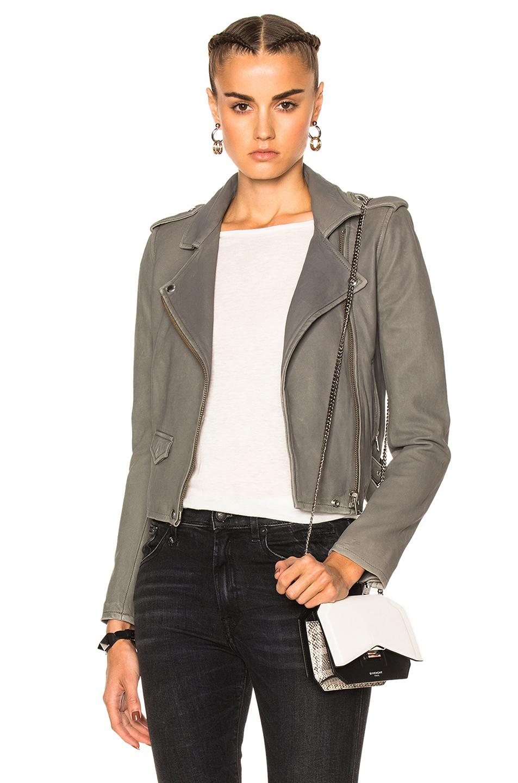 IRO Ashville Washed-Leather Biker Jacket at FORWARD