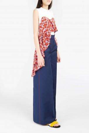 MSGM Stitch-Detail Wide-Leg Trousers