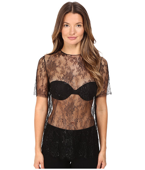 LA PERLA Leisuring Lace Tee in Black