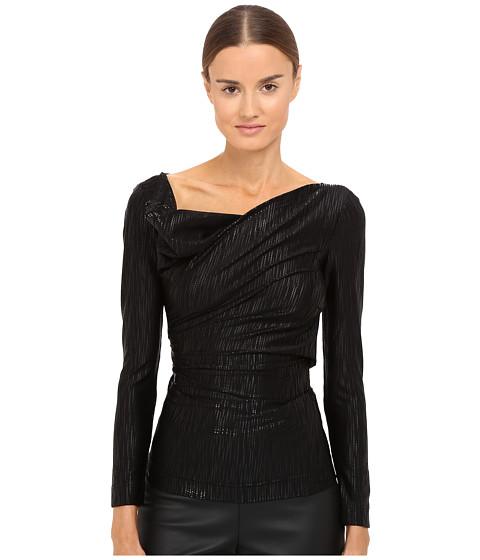VIVIENNE WESTWOOD Long Sleeve Priestess Top in Black/Black