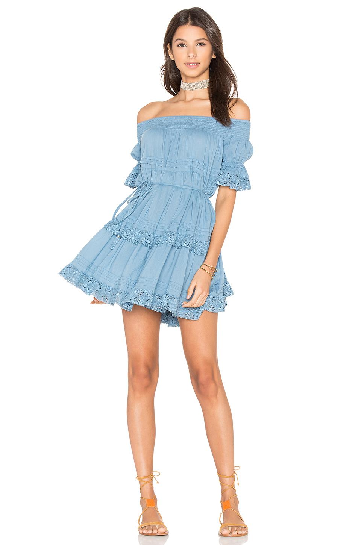 LOVESHACKFANCY Agnes Dress in Azure