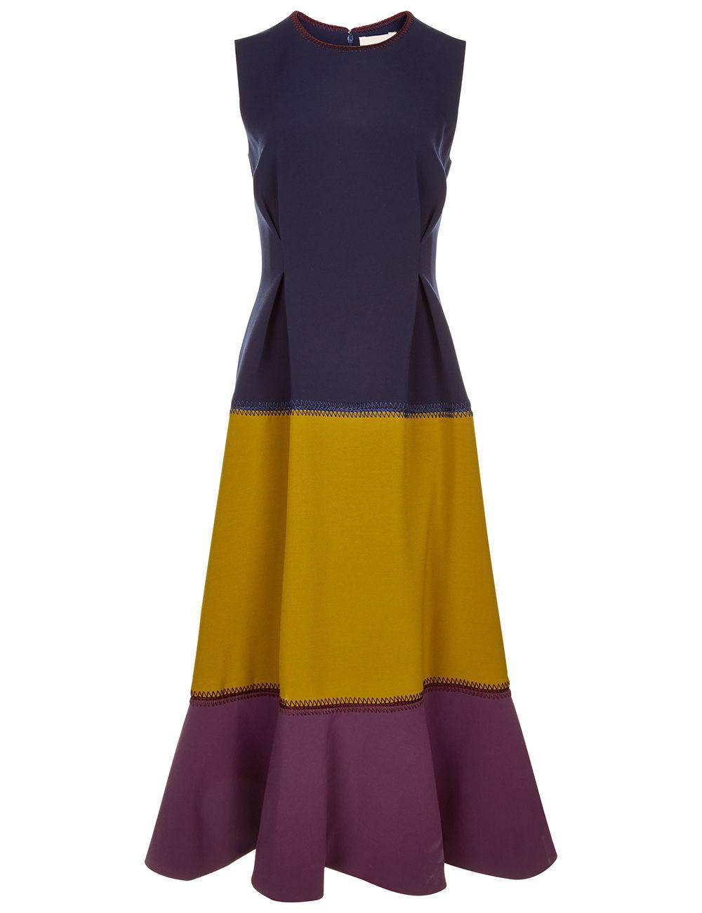 ROKSANDA Ambreen Paneled Stretch-Cady Midi Dress at AVENUE 32