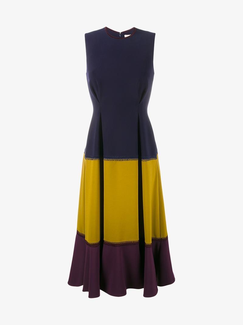 ROKSANDA Ambreen Paneled Stretch-Cady Midi Dress at Browns Fashion