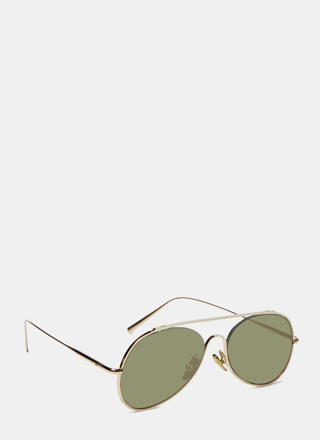 ACNE STUDIOS Unisex Small Spitfire Sunglasses In Gold