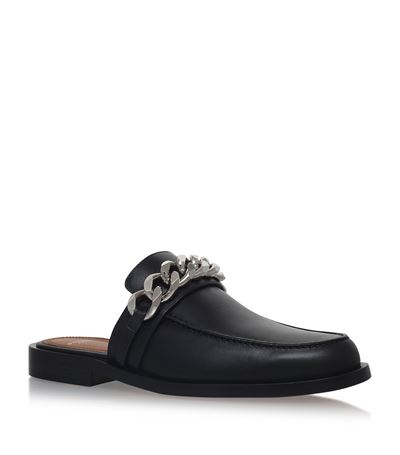 GIVENCHY Chain Croc-Embossed Leather Loafer Slides at Harrods