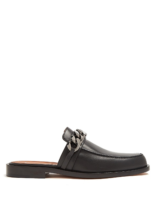 GIVENCHY Chain Croc-Embossed Leather Loafer Slides at MATCHESFASHION.COM