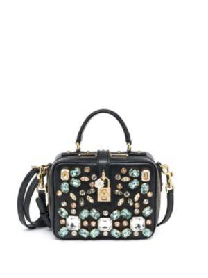 DOLCE & GABBANA Embellished Leather Shoulder Bag at Saks Fifth Avenue
