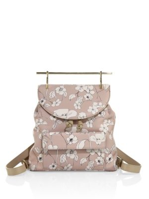 M2MALLETIER Flower-Print Leather Backpack at Saks Fifth Avenue