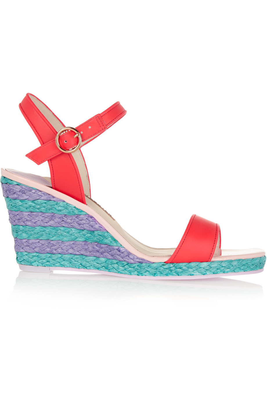 SOPHIA WEBSTER Lucita Leather Espadrille Wedge Sandals at THE OUTNET.COM