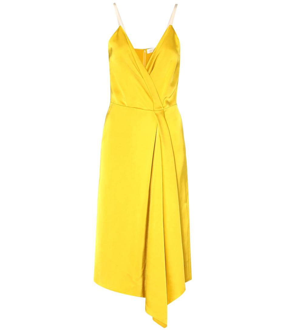 VICTORIA BECKHAM Draped Silk-Blend Satin Dress at mytheresa.com