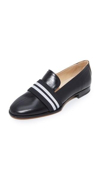 RAG & BONE Amber Striped-Web Leather Loafer, Black at Shopbop