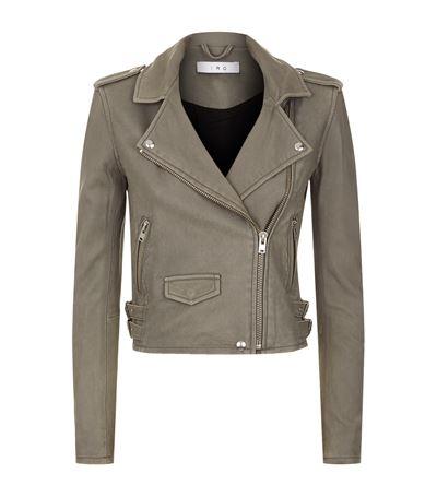 IRO Ashville Washed-Leather Biker Jacket at Harrods