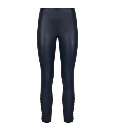 PIERRE BALMAIN Side Button Leather Leggings