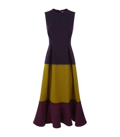ROKSANDA Ambreen Paneled Stretch-Cady Midi Dress at Harrods