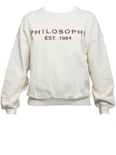 PHILOSOPHY DI LORENZO SERAFINI White Cotton Sweater