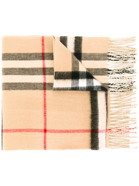 BURBERRY House Check Scarf at Farfetch