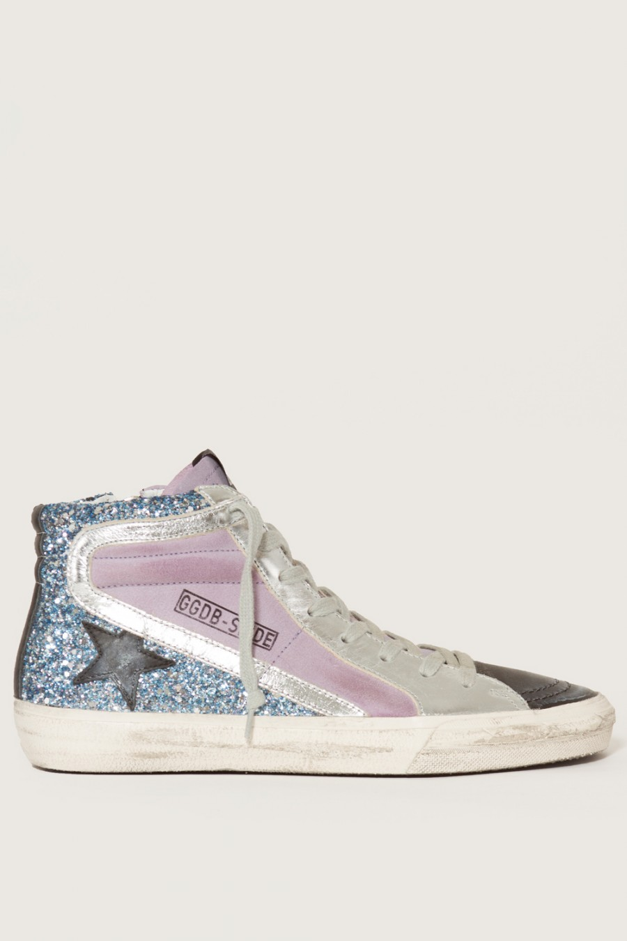 GOLDEN GOOSE Multicolor Slide High-Top Sneakers at MADISON LOS ANGELES
