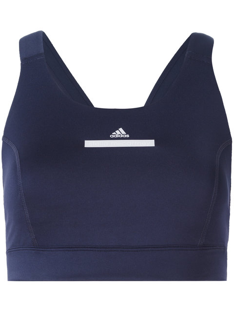 ADIDAS BY STELLA MCCARTNEY The Pull-On Sports Bra, Noble Ink (Dark Blue)