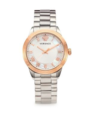 VERSACE Stainless Steel Quartz Watch at Saks Off 5TH