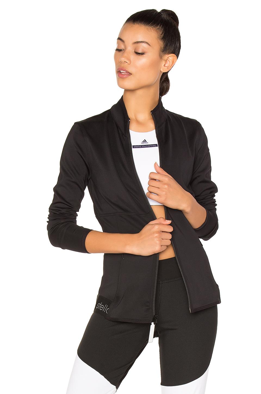 ADIDAS BY STELLA MCCARTNEY The Midlayer Zip-Front Jacket, Black at REVOLVE