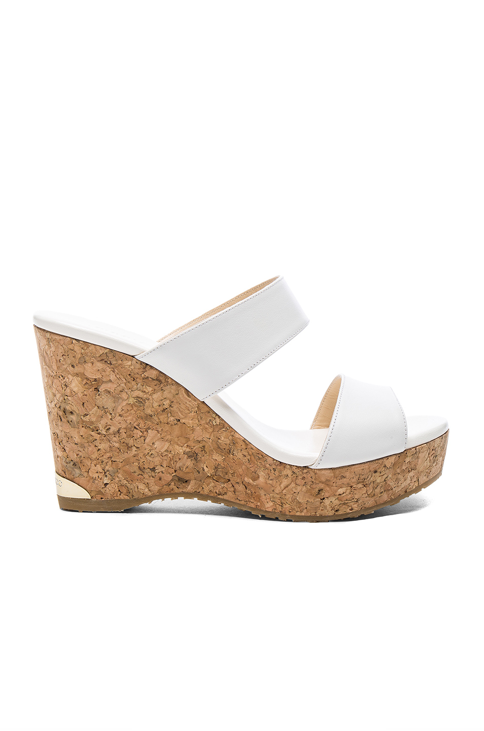 JIMMY CHOO Parker Wedge Sandals in White