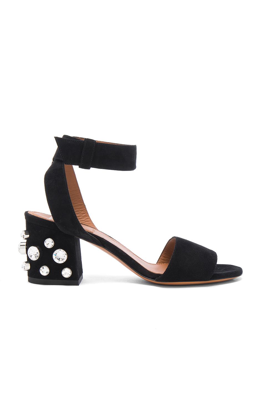 GIVENCHY Paris Stud-Heel City Sandal, Black