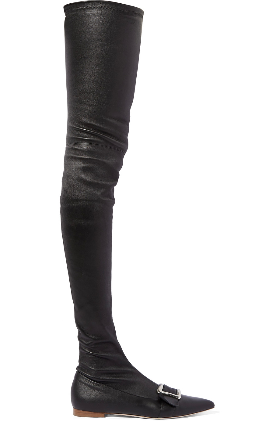 MALONE SOULIERS + Adam Lippes Emma Buckled Leather Over-The-Knee Boots
