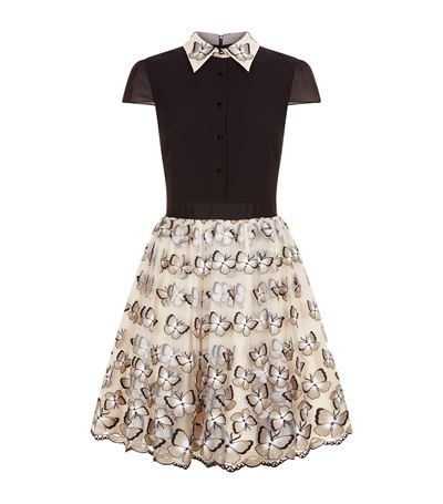 ALICE AND OLIVIA Butterfly Embroidered Skirt at Harrods
