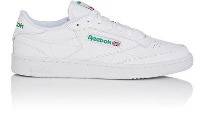 REEBOK Club C 85 Leather Low-Top Sneakers in White/Glen Green