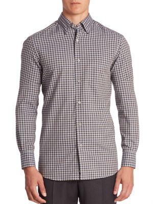 ERMENEGILDO ZEGNA Regular-Fit Cotton & Cashmere Shirt in Blue