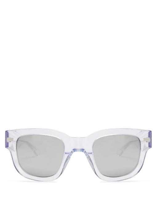 ACNE STUDIOS Square-Frame Mirrored Acetate Sunglasses