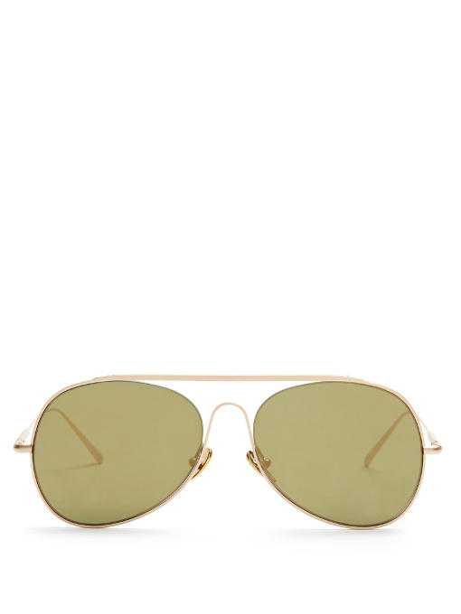 ACNE STUDIOS Unisex Small Spitfire Sunglasses In Gold at MATCHESFASHION.COM