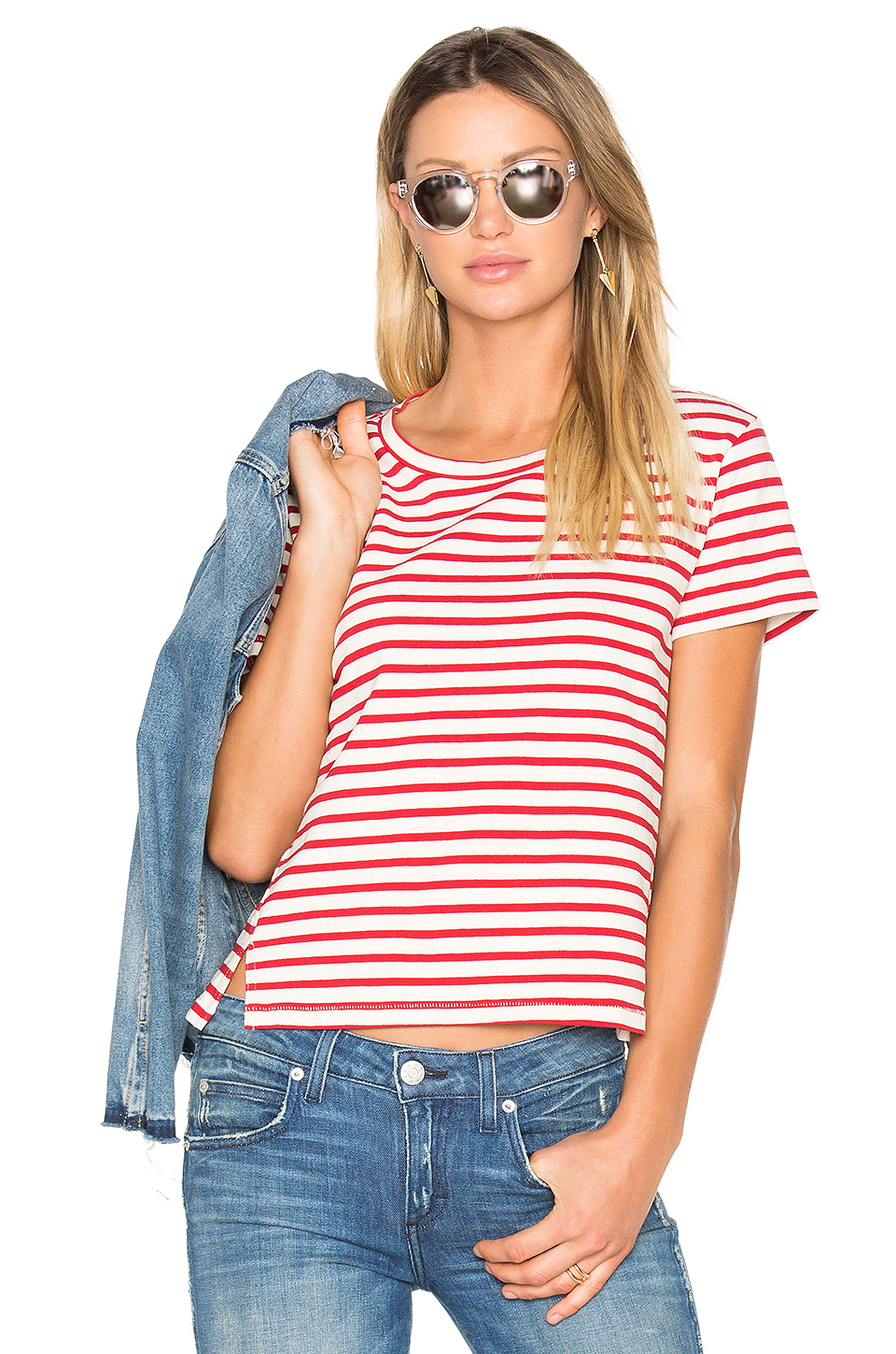 AMO Striped Twist Seam Tee at REVOLVE