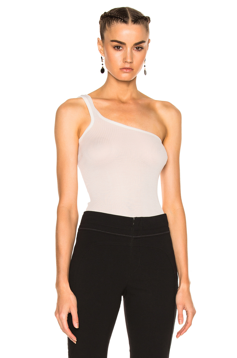 ISABEL MARANT Ecru Mantsy Single-Shoulder Top