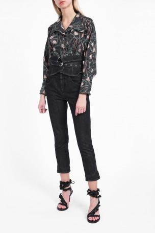 ISABEL MARANT Evera Belted High-Rise Straight-Leg Jeans at Boutique 1