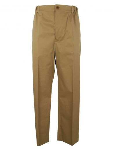 STELLA MCCARTNEY Wide Leg Tailored Trousers in Mushroom