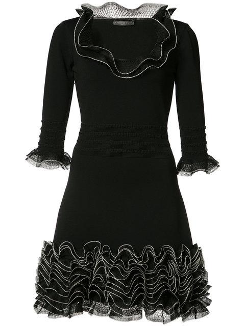 ALEXANDER MCQUEEN Frilled Mini Dress