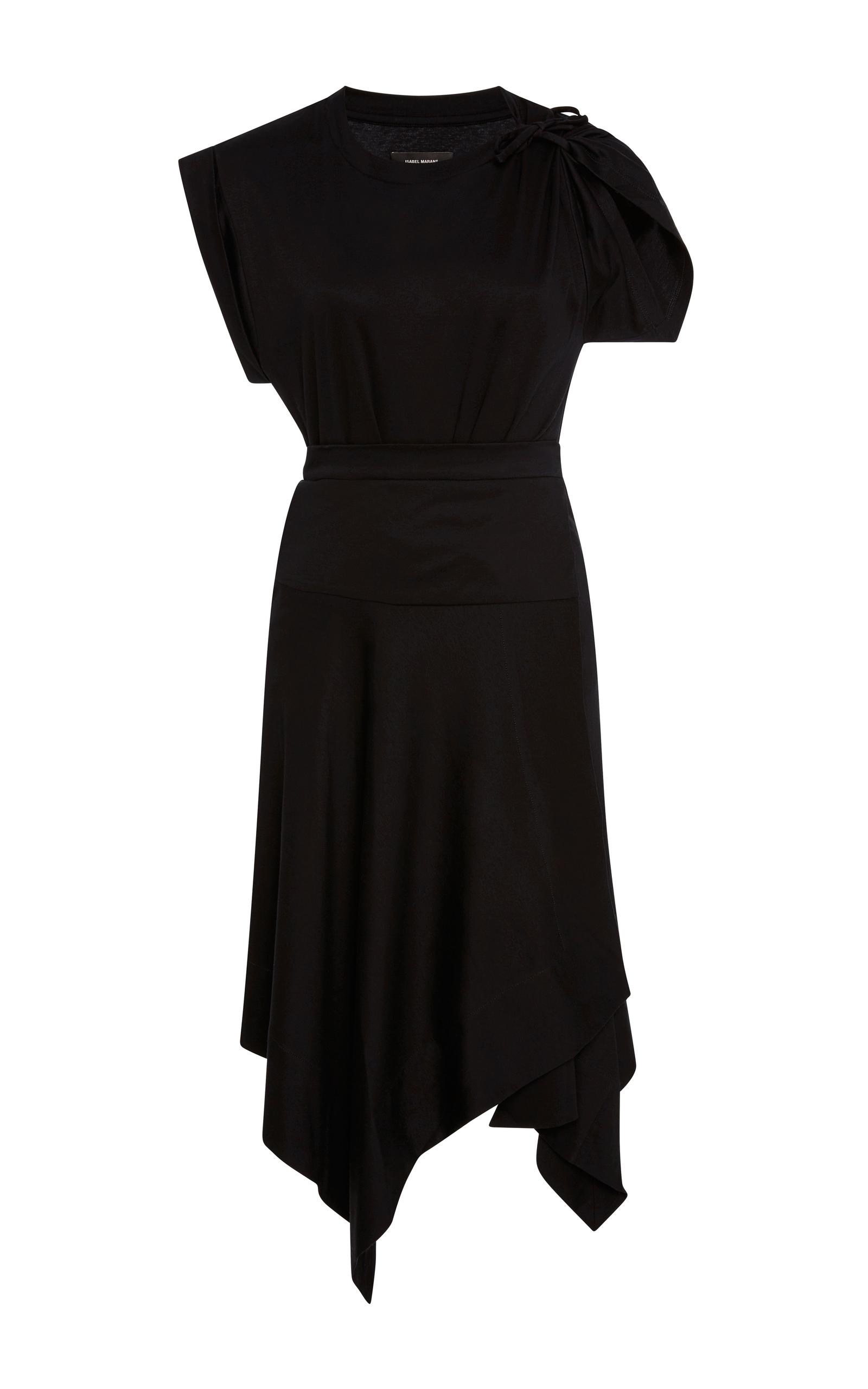 ISABEL MARANT Loko Cotton Jersey Wrap Dress at Moda Operandi