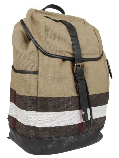BURBERRY Burberry Striped Detail Backpack