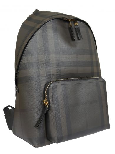 BURBERRY Housecheck Backpack in Chocolate/Black