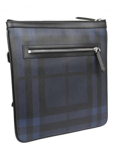 BURBERRY Checked Shoulder Bag in Navy/Black