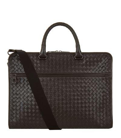 BOTTEGA VENETA Cartella Intrecciato Briefcase Bag in Brown