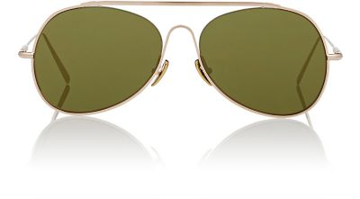 ACNE STUDIOS Unisex Small Spitfire Sunglasses In Gold at BARNEYS