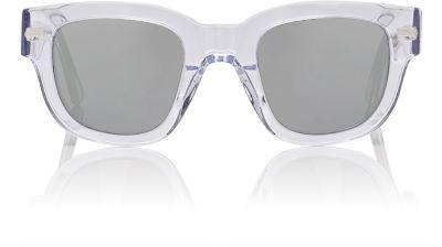 ACNE STUDIOS Square-Frame Mirrored Acetate Sunglasses at BARNEYS