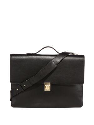 PAUL SMITH Concertina Leather Messenger Bag