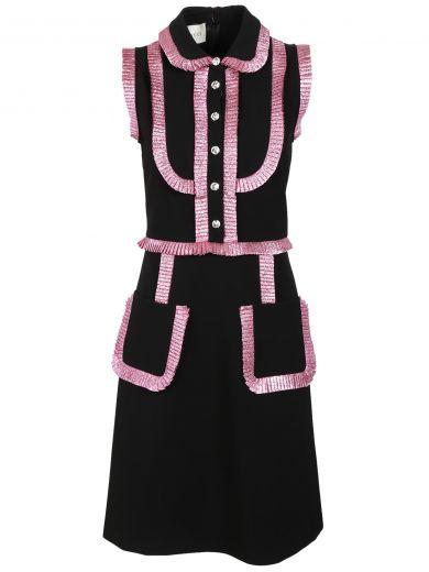 GUCCI Contrast Detail Dress