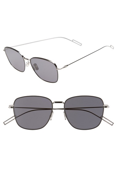 DIOR HOMME 'Composit 1.1S' 54Mm Metal Sunglasses in Palladium/ Grey Silver Mirror